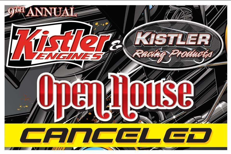9th Annual Open House Cancelled for 2017 Due to prolonged medical restrictions from Paul Kistler's recent surgery and other family issues in recent days, we regret to announce that the 9th annual Kistler Open House has been CANCELLED. Kistler Racing Products will still be open Saturday January 14th for those who still want to make a visit. We thank everyone for their understanding of the decision made and apologize for any inconvenience.